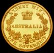 London Coins : A166 : Lot 911 : Australia 25 Dollars 2005 the reverse as the Victorian Sydney Branch Mint Sovereign Gold Proof FDC o...