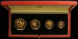 London Coins : A166 : Lot 961 : Guernsey 1994 Four-Coin Gold Proof Collection 50th Anniversary of D-Day £100, £50, &poun...