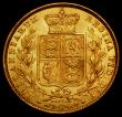 London Coins : A167 : Lot 1019 : Sovereign 1872 Shield Reverse, Marsh 56, S.3853B, Die Number 87, EF/AU and lustrous, an extremely at...