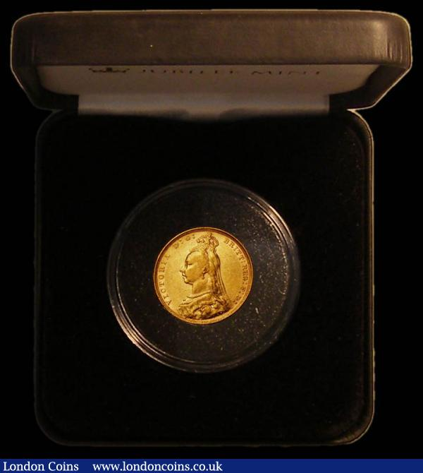 Sovereign 1890 G: of D:G: closer to crown S.3868B Fine, in a Jubilee Mint box with certificate : English Cased : Auction 167 : Lot 134