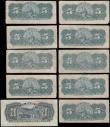 London Coins : A167 : Lot 1470 : Cuba Banco Espanol de la Isla de Cuba late 1896 and 1897 issues (10) comprising 5 Centavos Pick 45a ...