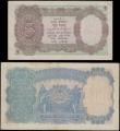 London Coins : A167 : Lot 1522 : India Reserve Bank George VI facing left portrait Taylor signature ND 1937 issues (2) comprising 5 R...