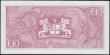 London Coins : A167 : Lot 1639 : St. Helena 10 Pounds Pick 8a ND 1979 a lower serial number P/1 000544. The note in pale red on multi...