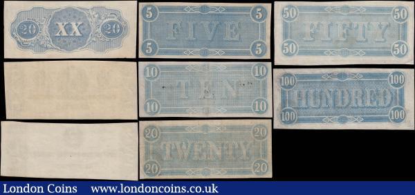 1862 25 Cents Mechanics Bank Augusta Georgia $5 Macon Reverse Civil War Issue