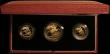London Coins : A167 : Lot 170 : The 1987 United Kingdom Gold Proof Set, the three coin set Double Sovereign, Sovereign and Half Sove...