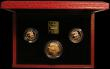 London Coins : A167 : Lot 173 : The 1995 United Kingdom Gold Three Coin Sovereign Collection, Two Pounds Peace Dove, Sovereign and H...
