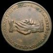 London Coins : A167 : Lot 1736 : Slave Token Middlesex, undated  Obverse: Kneeling Slave, AM I NOT A MAN AND A BROTHER, Reverse Two h...