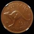 London Coins : A167 : Lot 1865 : Australia Penny 1938 Proof KM#36 in an NGC holder and graded PF65 BN, only 6 examples have been grad...