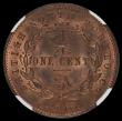 London Coins : A167 : Lot 1885 : British North Borneo Cent 1882H KM#2 in an NGC holder and graded MS64 RB