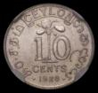 London Coins : A167 : Lot 1895 : Ceylon 10 Cents 1926 VIP Proof/Proof of record KM#104a in an NGC holder and graded PF63, we note the...