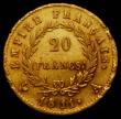 London Coins : A167 : Lot 1921 : France 20 Francs Gold 1811A KM#695.1 Fine