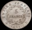 London Coins : A167 : Lot 1925 : France Five Francs 1811D KM# Lyon Mint KM#694.5 UNC and lustrous and very seldom encountered in this...