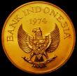 London Coins : A167 : Lot 1954 : Indonesia 100,000 Rupiah Gold 1974 World Conservation Series Obverse: National Emblem of Indonesia, ...