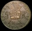 London Coins : A167 : Lot 1960 : Ireland Halfcrown Gunmoney 1689 Mar: Timmins TB30J-1B EF and fully struck with some light pitting to...