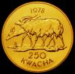 London Coins : A167 : Lot 1974 : Malawi 250 Kwacha 1978 World Conservation Series Obverse: Head of Hastings Banda right, Reverse: Nya...