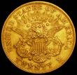 London Coins : A167 : Lot 2051 : USA Twenty Dollars Gold 1876S Breen 7260 NEF with some contact marks