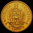 London Coins : A167 : Lot 2058 : Venezuela 1000 Bolivares Gold 1975 World Conservation Series Obverse: National Arms above Ribbon, Re...