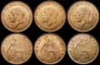 London Coins : A167 : Lot 2110 : Halfpennies (6) 1911, 1923, 1924, 1931, 1933, 1936 UNC with varying degrees of lustre, a pleasing gr...