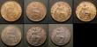 London Coins : A167 : Lot 2154 : Victorian Bronze a small group (7) Penny 1891 Freeman 132 dies 12+N A/UNC , Halfpennies (3) 1877 Fre...