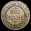 London Coins : A167 : Lot 2288 : Australia Penny 1915H KM#23 EF the obverse with a slightly uneven tone, the striking on the crown is...