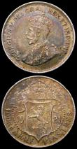 London Coins : A167 : Lot 2309 : Cyprus (2) 18 Piastres 1921 KM#14 GF/NVF, 4 1/2 Piastres 1921 NEF with attractive golden tone