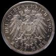 London Coins : A167 : Lot 2320 : German States - Baden Two Marks 1902 50th Year of the Reign of Friedrich I, KM#271,  in a PCGS holde...