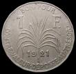 London Coins : A167 : Lot 2332 : Guadeloupe One Franc 1921 KM#46 GEF with very minor surface deposit in the legend, one of only two d...