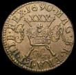London Coins : A167 : Lot 2342 : Ireland Halfcrown Gunmoney 1690 May Small Size S.6580B, Timmins TB30sM-2A GVF, some staining on ET.H...