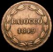 London Coins : A167 : Lot 2349 : Italian States - Papal States Baiocco 1849 IVR KM#1339.1 Fine once cleaned, rare and unpriced by Kra...