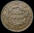 London Coins : A167 : Lot 2388 : USA Half Cent 1833 Breen 1573 VF with a small scuff on the hair