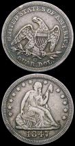 London Coins : A167 : Lot 2396 : USA Quarter Dollars (2) 1847O Breen 3972, Good Fine, Breen in his 1988 publication states 'usua...