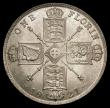 London Coins : A167 : Lot 2443 : Florin 1921 ESC 940, Bull 3768 UNC and lustrous with a hint of underlying tone, in an LCGS holder an...