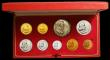 London Coins : A167 : Lot 294 : South Africa Proof Set 1967 toned nFDC (the 1 Rand once lacquered) in the Red SAM box of issue, 9 co...
