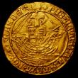 London Coins : A167 : Lot 370 : Angel Henry VIII Third Coinage, Obverse with HENRIC 8 legend, annulet by angel's head and on sh...