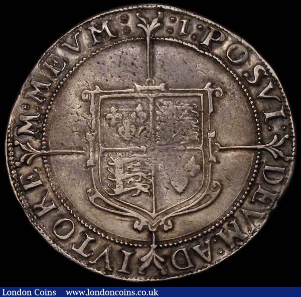 Crown Elizabeth I mintmark 1 (1601) S.2582 VF with some usual weaker areas these mostly in the shield, portrait pleasing, drapery sharp, even tone a very collectable example : Hammered Coins : Auction 167 : Lot 373