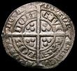 London Coins : A167 : Lot 375 : Groat Edward III Pre-Treaty period, mintmark Cross Pattee, with French title, R with wedge-shaped ta...