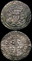 London Coins : A167 : Lot 383 : Groats (3) Edward IV (2) London Mint, Quatrefoils at neck, S.2000 Mintmark Sun, Good Fine with an ed...