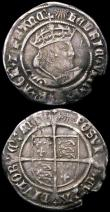 London Coins : A167 : Lot 384 : Groats Henry VIII (2) Second Coinage Laker Bust B S.2337D mintmark Rose, Fine/Good Fine with grey to...