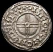 London Coins : A167 : Lot 408 : Penny Cnut Short Cross type, S.1159 York Mint, Moneyer Beorn, 0.96 grammes, Near EF with a very thin...