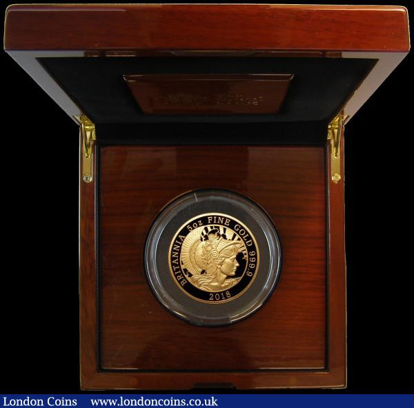 Five Hundred Pounds 2018 Britannia -  The Spirit of a Nation 5oz. .999 Gold Proof S.BR5 FDC in the Royal Mint box of issue with certificate number 54 of just 95 issued, with only 90 in this format : English Cased : Auction 167 : Lot 42