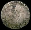 London Coins : A167 : Lot 427 : Shilling Edward VI Debased Silver Issue 1550 Tower Mint, Bust 5 S.2466 mintmark Leopard's Head ...