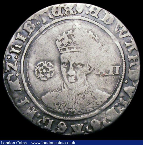 Shilling Edward VI Fine Silver Issue S.2482 mintmark Tun About Fine/Fine : Hammered Coins : Auction 167 : Lot 428
