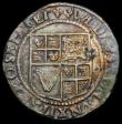 London Coins : A167 : Lot 434 : Shilling James I Sixth Bust S.2668 mintmark Lis Good Fine, the reverse better, unevenly toned, has p...