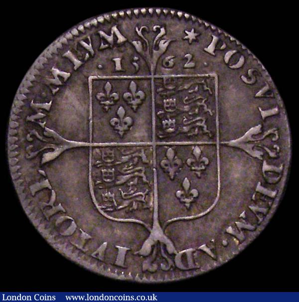 Threepence Elizabeth I Milled issue 1562 Tall Narrow Decorated Bust with medium rose S.2603, Mintmark Star, 1.49 grammes, GVF with grey tone a most pleasing example : Hammered Coins : Auction 167 : Lot 444