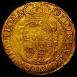 London Coins : A167 : Lot 445 : Unite Charles I Group C, Third Bust with heavier armour, Reverse Oval shield with CR at sides S.2690...