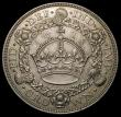 London Coins : A167 : Lot 497 : Crown 1928 ESC 368, Bull 3633 the reverse with a small spot on the crown arch, with two gentle edge ...