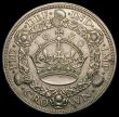 London Coins : A167 : Lot 499 : Crown 1930 ESC 370, Bull 3638 NEF with a flan flaw below the King's ear