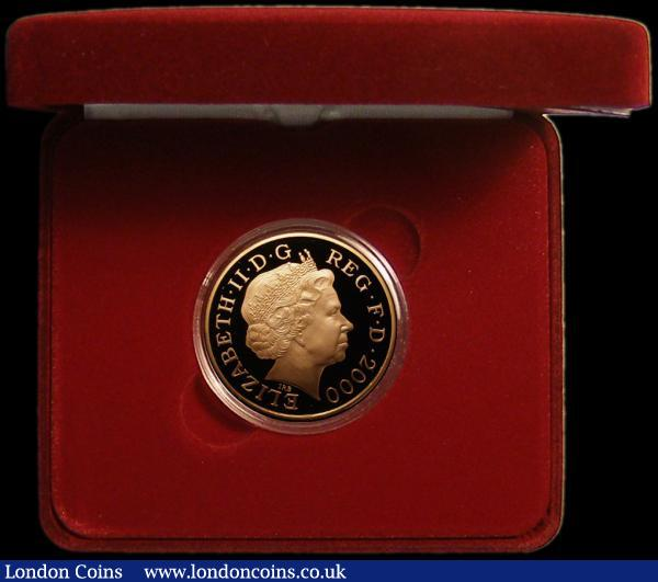 Five Pound Crown 2000 Queen Mother 100th Birthday Gold Proof S.L8 FDC in the box of issue with certificate : English Cased : Auction 167 : Lot 53