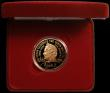 London Coins : A167 : Lot 53 : Five Pound Crown 2000 Queen Mother 100th Birthday Gold Proof S.L8 FDC in the box of issue with certi...