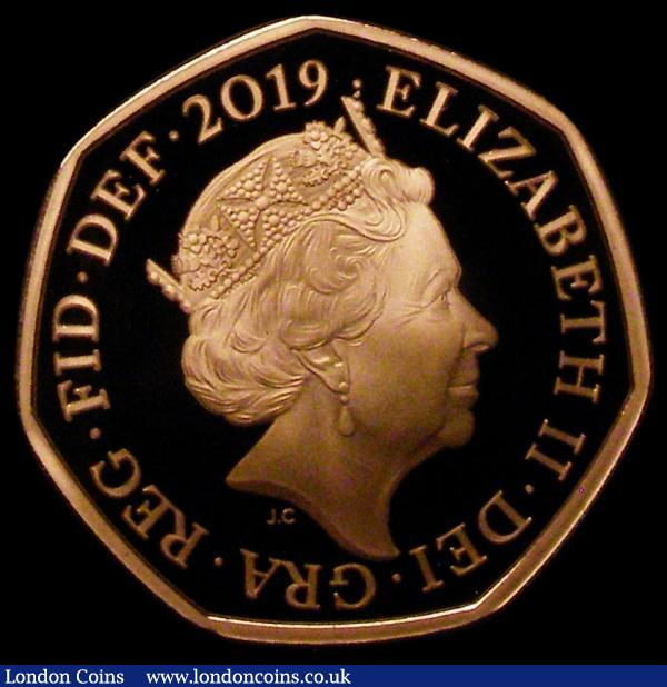 Fifty Pence 2019 Sherlock Holmes Gold Proof FDC in capsule, Rare in capsule with no certificate, Rare with a low mintage of just 600 pieces  : English Coins : Auction 167 : Lot 543